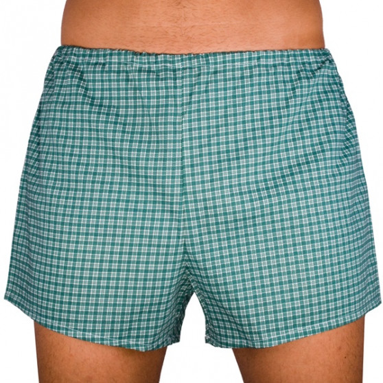 Klasické pánské trenky Foltýn zelené s kostičkou nadrozměr