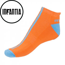 Ponožky Infantia Softline oranžové s modrou linkou