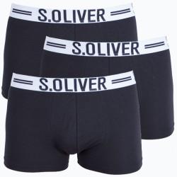 3PACK pánské boxerky S.Oliver černé (26.899.97.4229.12B6)