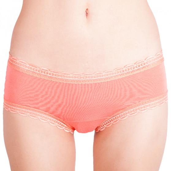 Dámské kalhotky Molvy meruňkové s krajkou