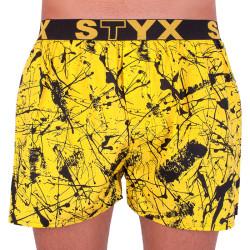 Pánské trenky Styx art sportovní guma Jáchym žluté (B751)