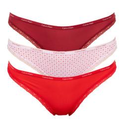 3PACK dámské kalhotky Calvin Klein vícebarevné (QD3591E-3MJ)