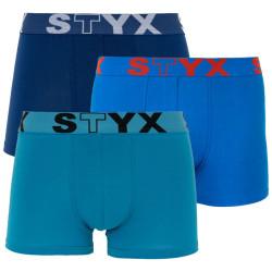 3PACK pánské boxerky Styx sportovní guma modré (G9676869)