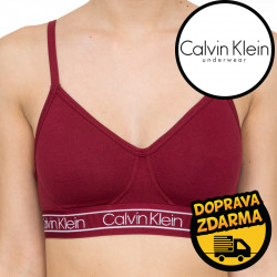 Dámská podprsenka Calvin Klein vínová (QF5232E-2XV)