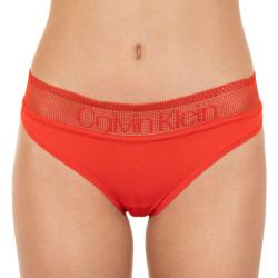Dámské kalhotky Calvin Klein červené (QD3698E-DFU)